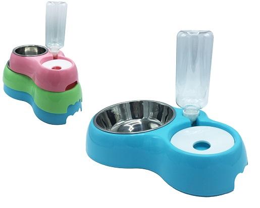 Plato y bebedero para perros y gatos, varios tamaños y colores.
